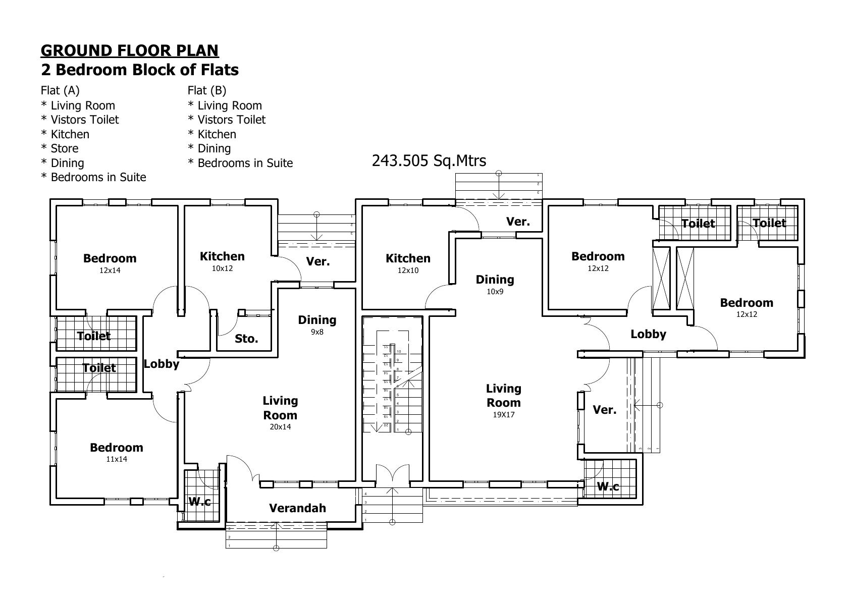 Nigeria house plans floor plan