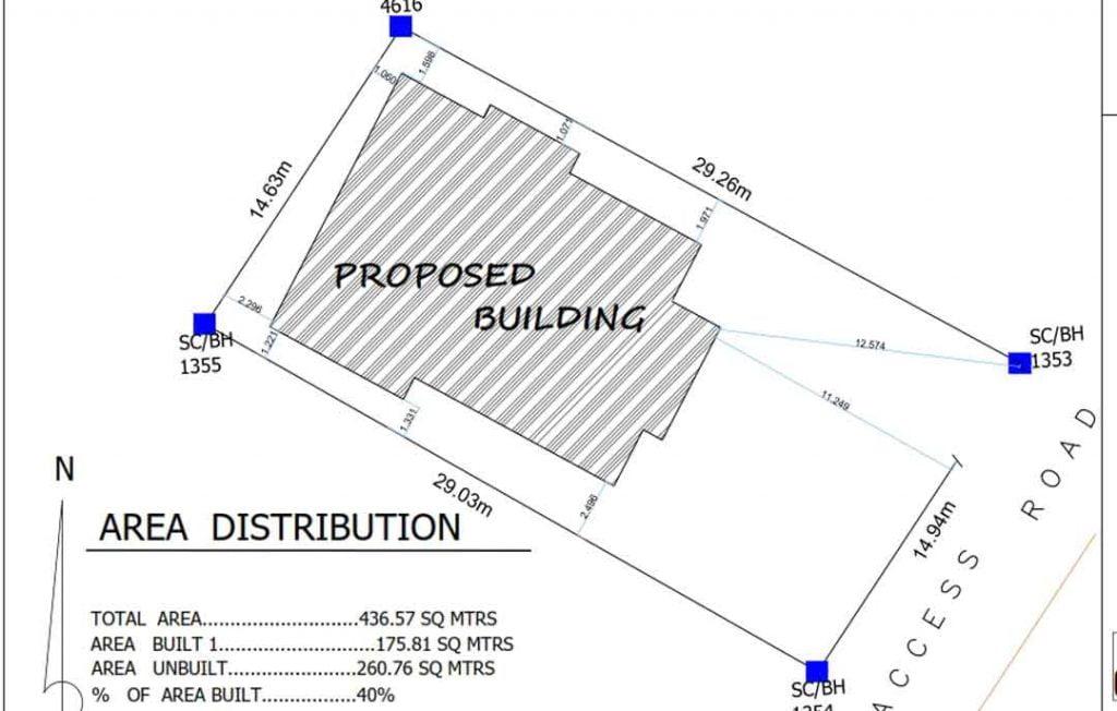 house plan drawing- site plan