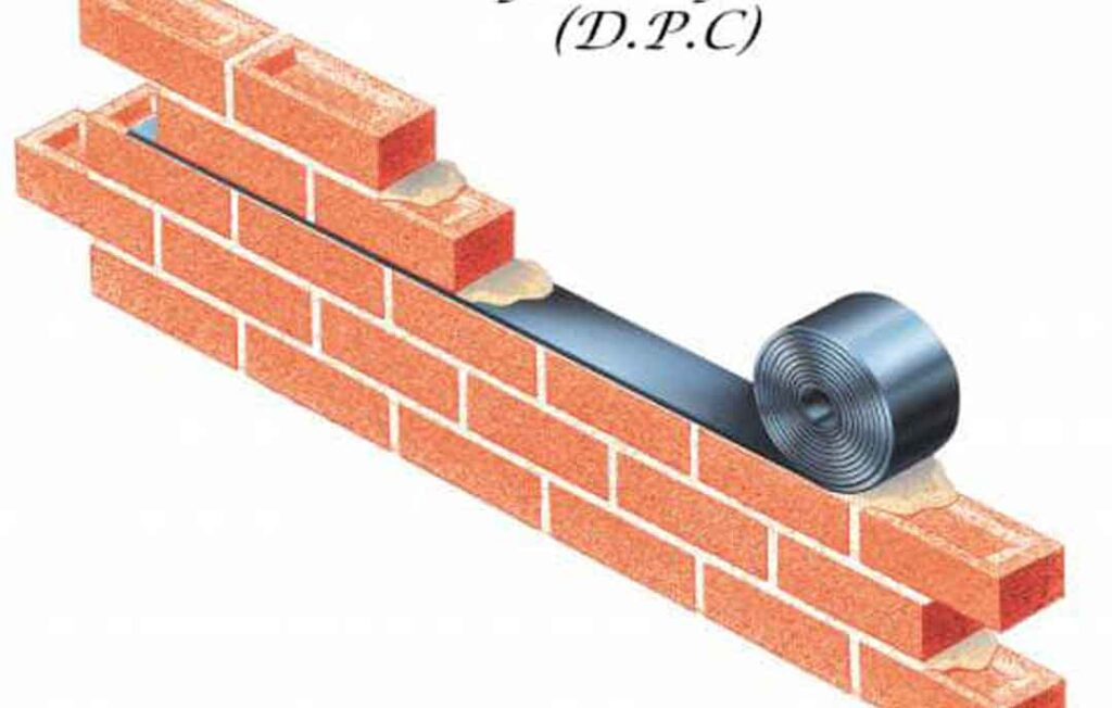 Introduction of damp proof tape