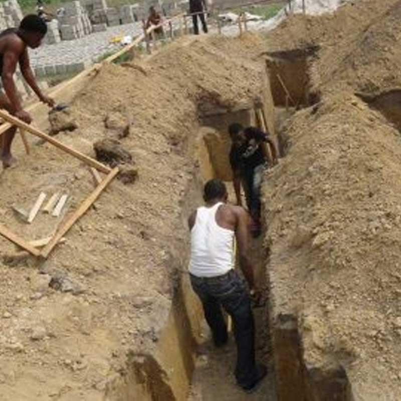 building plan excavation process