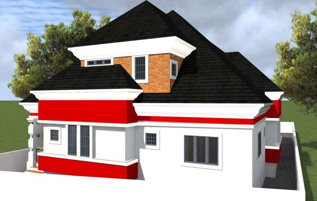 house plan drawings 6 bedroom bungalow