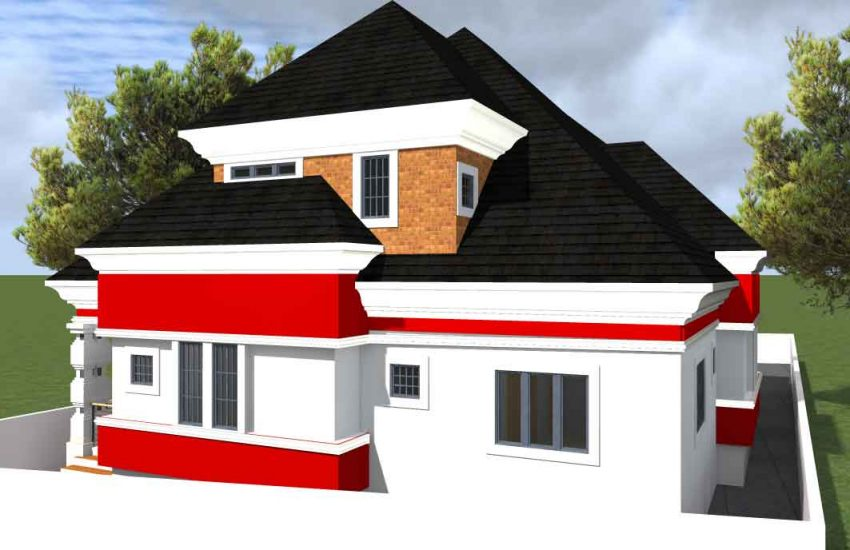 house plan drawings 6 bedroom bungalow