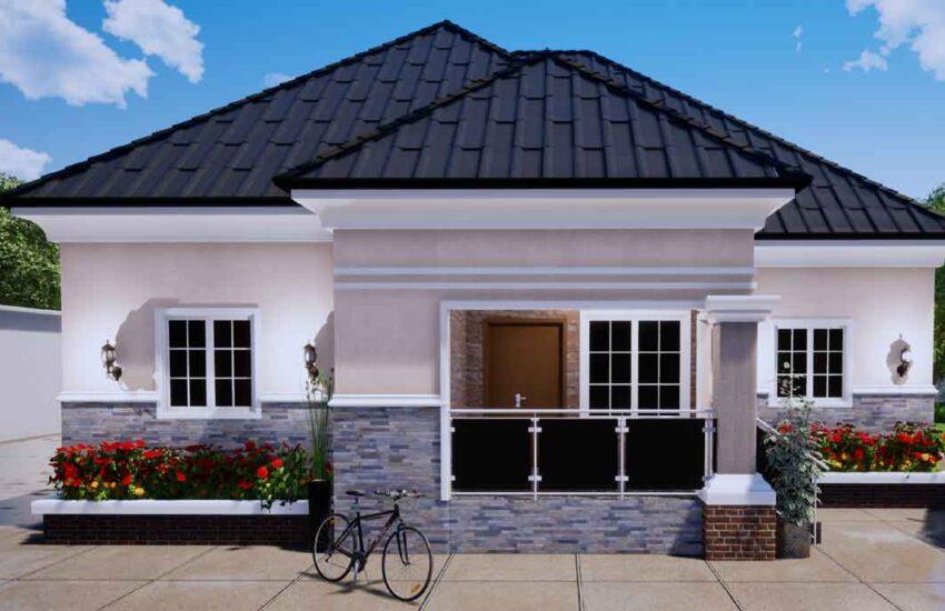4 bedroom bungalow Nigerian house plan