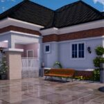 Nigerian house plan 3 bedroom bungalow