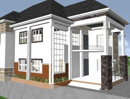 5 bedroom duplex house plan