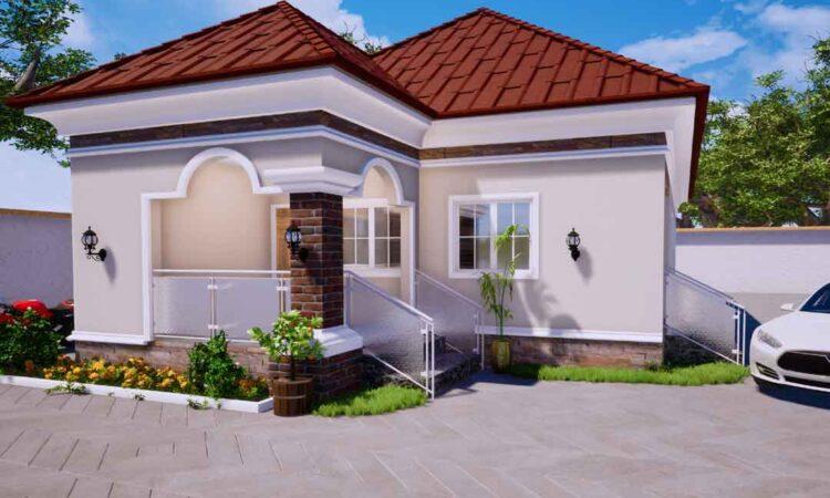 Nigerian house plan 3 bedroom bungalow