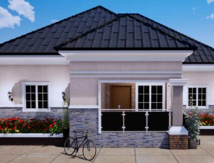Nigerian house plan portable 4 bedroom bungalow